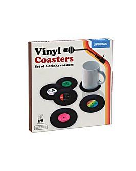 Retro Vinyl Coasters