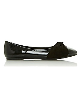 Head Over Heels Hedy Slip on Bow Ballerinas Standard D Fit