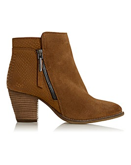 Dune Pontoon Side Zip Ankle Boots Wide E Fit
