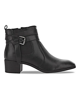 Lotus Leather Buckle Ankle Boots Extra Wide EEE Fit