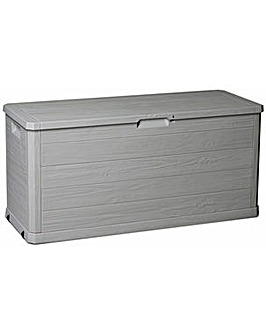 Toomax 280L Wood Effect Garden Storage Box - Grey