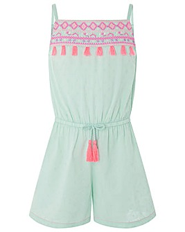 Accessorize Tulum Embroidered Playsuit