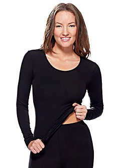 Charnos Black Thermal Long Slv Top