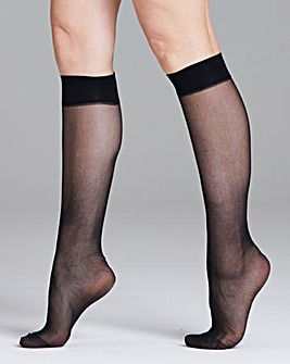 Pretty Polly Curves 2Pk Knee Highs