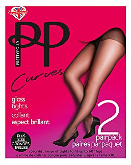 Pretty Polly Curves 2Pk Gloss Tights