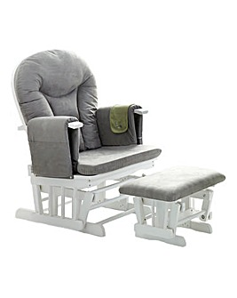 Obaby Reclining Glider Chair and Stool
