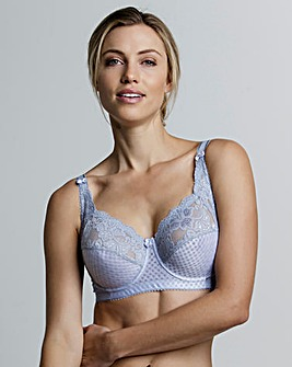 Miss Mary Jacquard And Lace Blue Bra