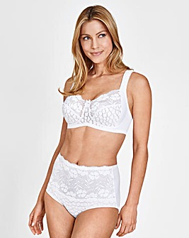 Miss Mary White Non Wired Jacquard Bra