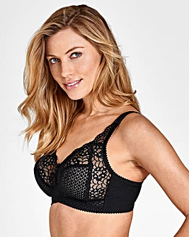 Miss Mary Black Cotton Non Wired Bra