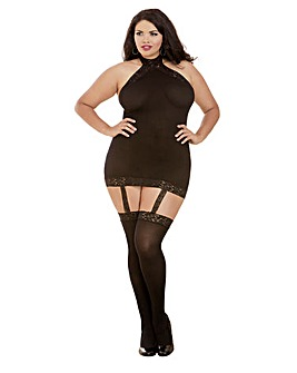 Dreamgirl Plus Size Halter Bodystocking