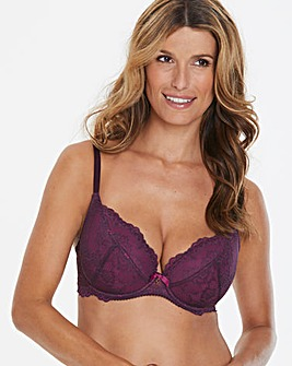 Gossard Superboost Lace Plunge Purple Bra