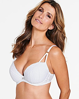 Ann Summers Sexy Lace Plunge White Bra