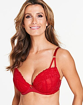 Ann Summers Sexy Lace Plunge Red Bra