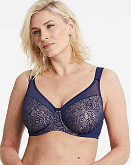 Berlei Lace Wired Deep Blue Minimiser Bra