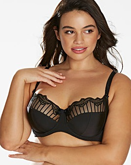 Charnos Sienna Balcony Wired Black Bra
