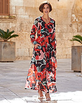 Joanna Hope Red Print Maxi Dress