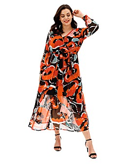 Joanna Hope Red Print Maxi Dress