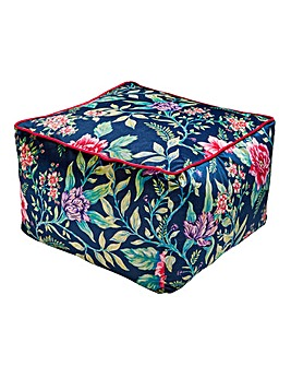 Joe Browns Floral Trail Velvet Pouffe