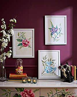 Joe Browns Floral Trail Set of 3 Wallart