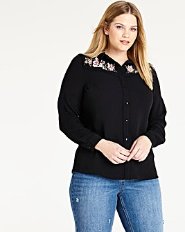 Black Western Embroidered Shirt