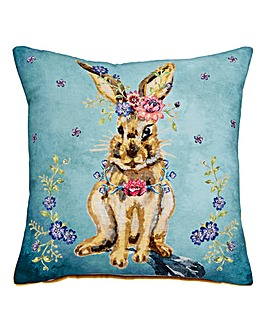 Joe Browns Floral Rabbit Cushion