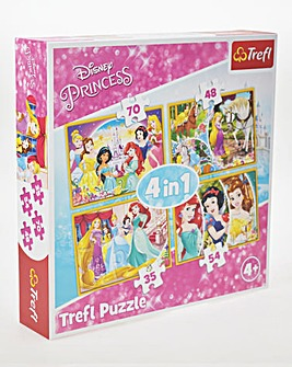 Disney Princess 4 In 1 Puzzles
