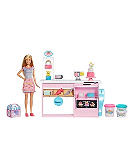 Barbie Cake Bakery Set & Baker Barbie