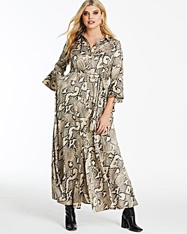 Joanna Hope Snake Print Maxi Dress