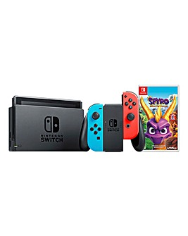 Nintendo Switch Neon Console + Spyro