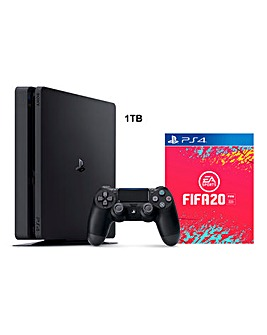PS4 Slim 1TB Black + FIFA 20