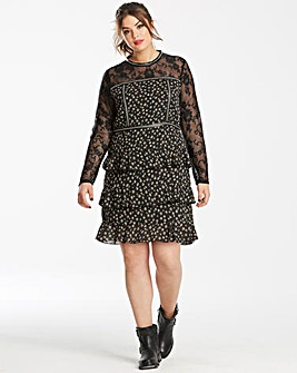 Glamorous Curve Lace Floral Dress