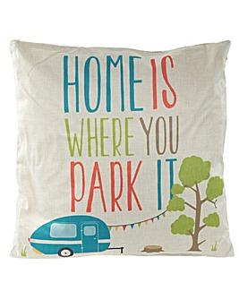 Fun Cushion - Caravan Slogan