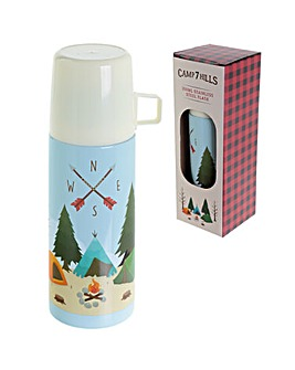 Funky 350ml Flask - Camping Design