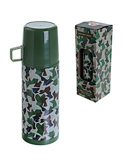 Funky 350ml Flask - Camouflage Design