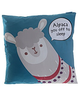 Fun Animal Cushion - Alpaca Slogan
