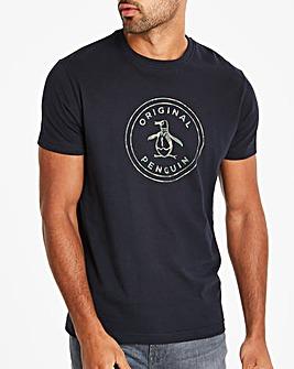 Original Penguin Camo Logo T-Shirt L