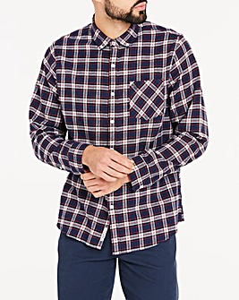Original Penguin Plaid Check Flannel Long Sleeve Shirt Regular