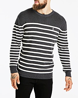 Original Penguin Breton Stripe Crew Neck Jumper Regular