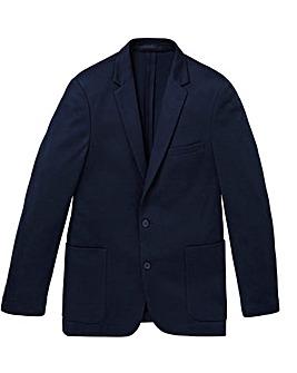 W&B Navy Tall Jersey Blazer