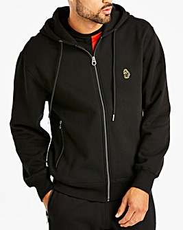 Luke Sport Black Berlin 2 Zip Through Hoody Regular