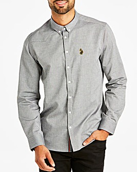 Luke Sport Black/White Cuffys Call Long Sleeve Shirt Regular