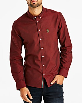 Luke Sport Dark Red Cuffys Call Long Sleeve Shirt Regular