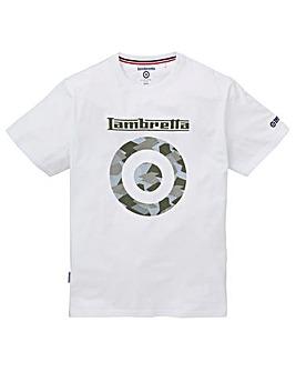 Lambretta Camo Logo Print Tee Long