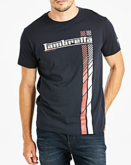 Lambretta Logo Twin Stripe Tee Regular