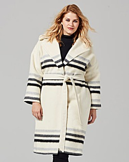 Helene Berman Stripe Throw On Coat