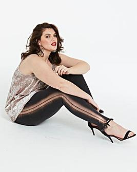 Chloe Metallic Stripe Skinny Jeans