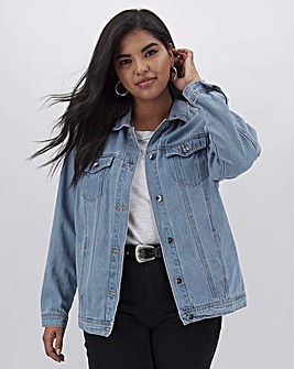 Bleachwash Oversized Denim Jacket