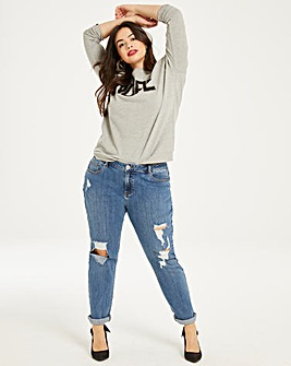 Fern Distressed Boyfriend Jeans