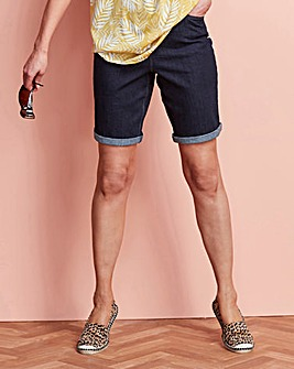 Indigo Everyday Knee Length Denim Shorts