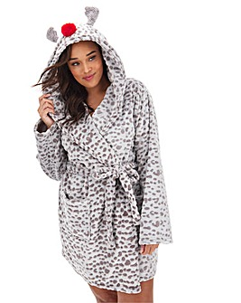 Boux Avenue Reindeer Hooded Robe